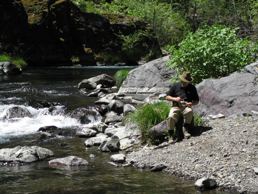 Mondy Fishing on the McCloud River